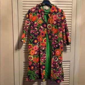 VINTAGE 1960's I.Magnin floral car coat